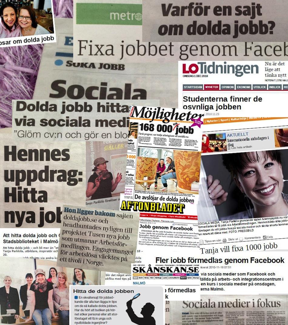Dolda Jobb - Tanja Parkkila - Kollage PR
